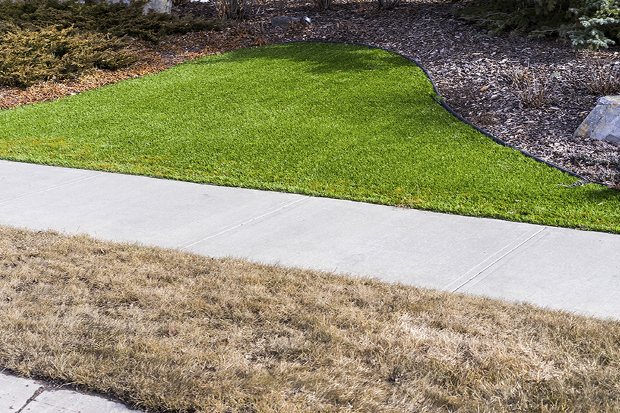 Artificial lawn vs natural